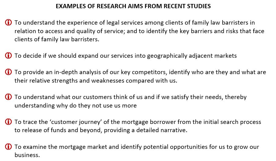 Market Research Aims
